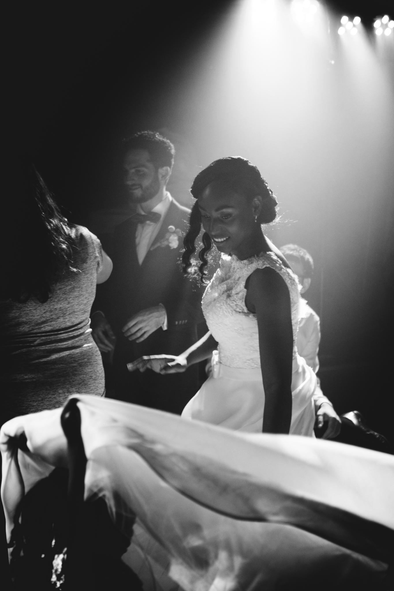 mariage, voilage, robe, noir et blanc, danse, enfants, mariées, soirée